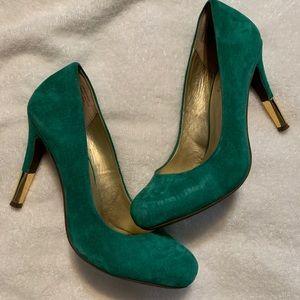 Emerald Suede Heels